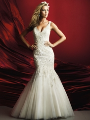 Allure Bridals Couture C369 V-neck Beaded Wedding Dress