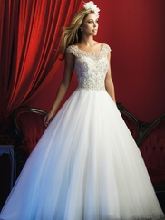 Allure Bridals Couture C370 Scoop Neckline Wedding Dress