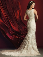Allure Bridals Couture C371 Scoop Neckline Wedding Dress