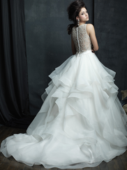 Allure Bridals Couture C380 High Neck Wedding Dress