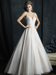 Allure Bridals Couture C382 V-neck Wedding Dress