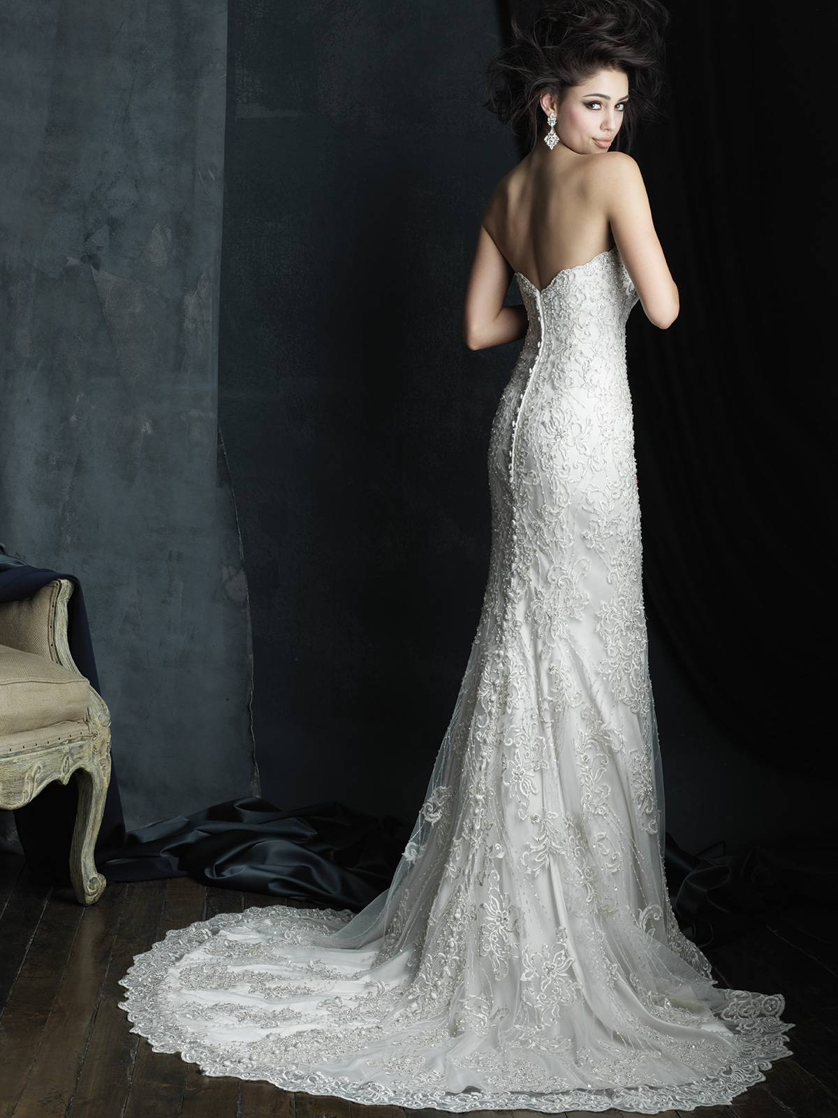 Allure Bridals Couture C383 Sweetheart Wedding Dress|DimitraDesigns.com