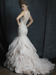 Allure Bridals Couture C386 V-neck Wedding Dress