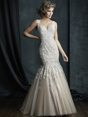 Allure Bridals Couture C388 V-neck Wedding Dress