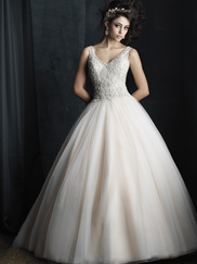 Allure Bridals Couture C390 V-neck Beaded Wedding Dress