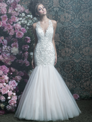 Allure Bridals Couture C402 V-neck Wedding Dress