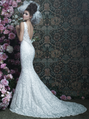 Allure Bridals Couture C404 V-neck Wedding Dress