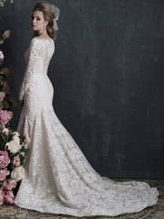 Allure Bridals Couture C406 Long Sleeves Wedding Dress
