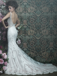 Allure Bridals Couture C408 V-neck Wedding Dress