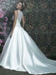 Allure Bridals Couture C411 High Illusion Neckline Wedding Dress