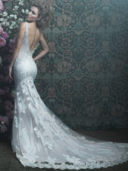 Allure Bridals Couture C412 V-neck Wedding Dress