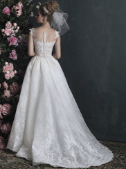 Allure Bridals Couture C413 Illusion Bateau Neckline Wedding Dress