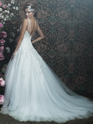 Allure Bridals Couture C414 V-neck Wedding Dress