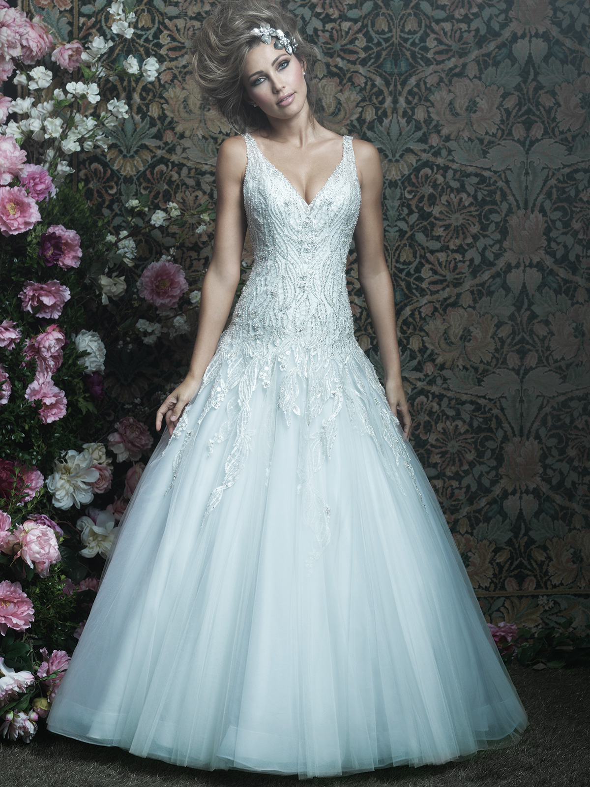 Allure Bridals Couture C414 Tulle Ball Gown Wedding Dress ...