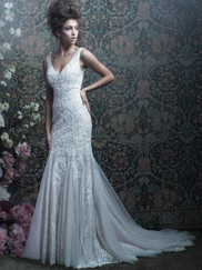 Allure Bridals Couture C415 V-neck Wedding Dress
