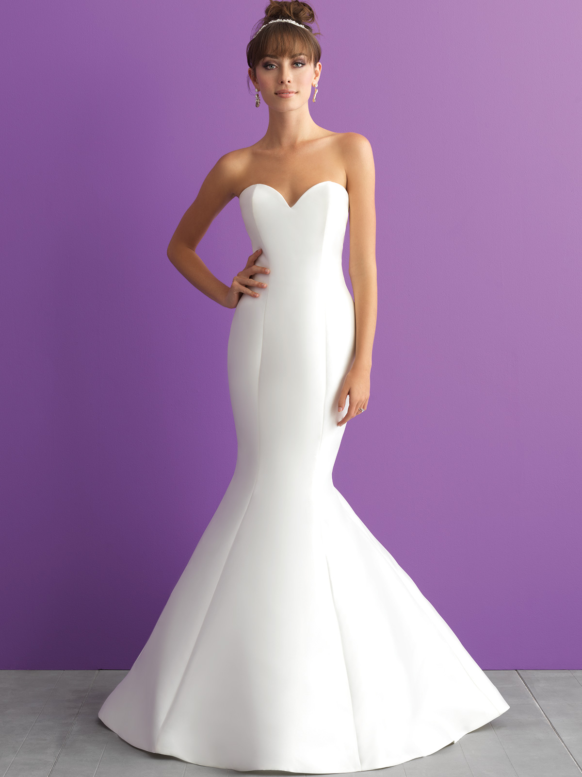 Allure Romance 3000 Sweetheart Mikado Wedding Dress|DimitraDesigns.com