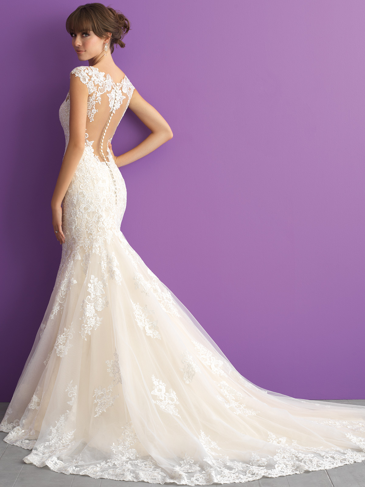 Kenneth Winston style 1795 / Beautiful Lace Mermaid gown