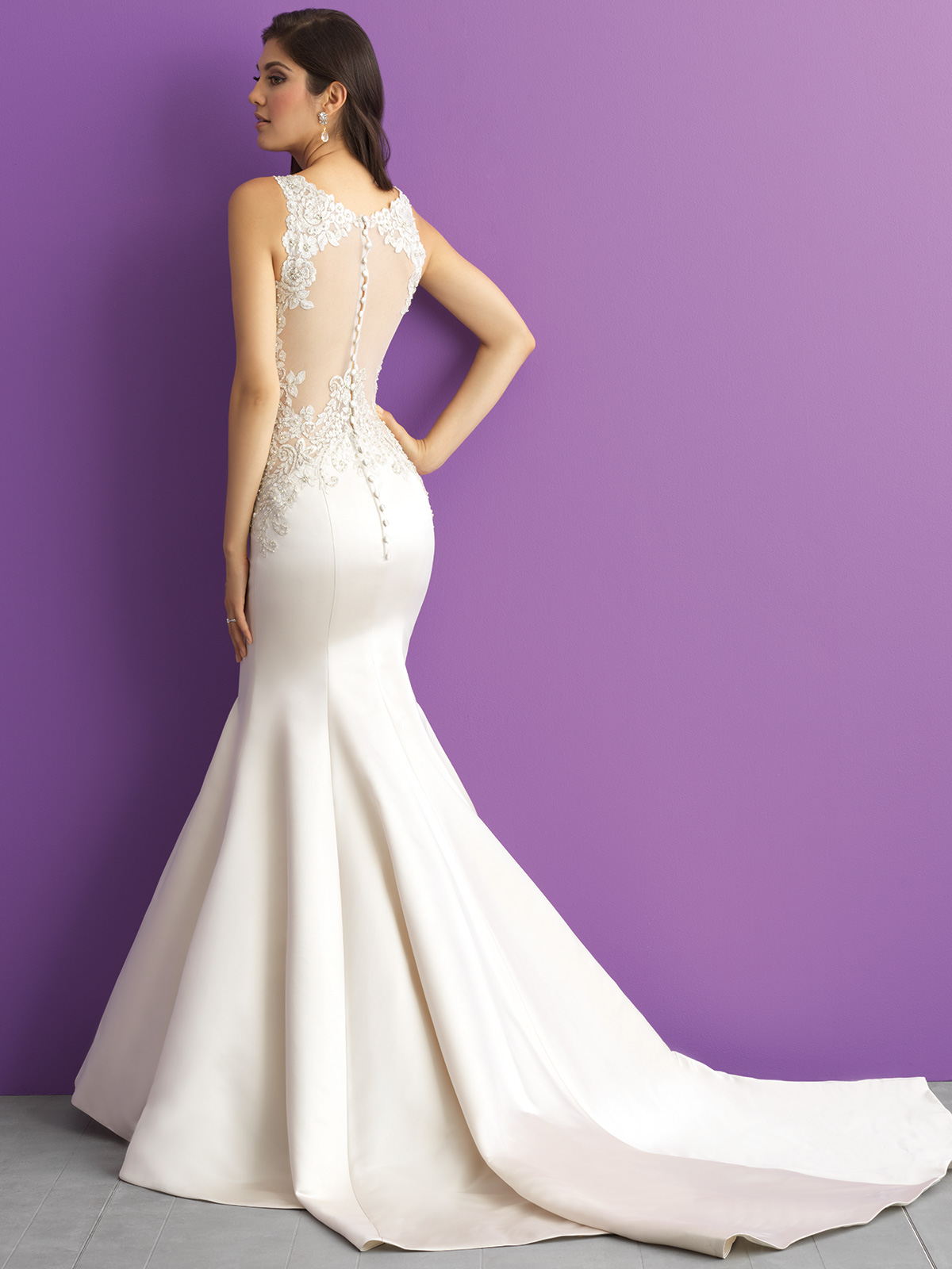 Allure Romance 3007 Scoop Neckline Mermaid Wedding Dress ...