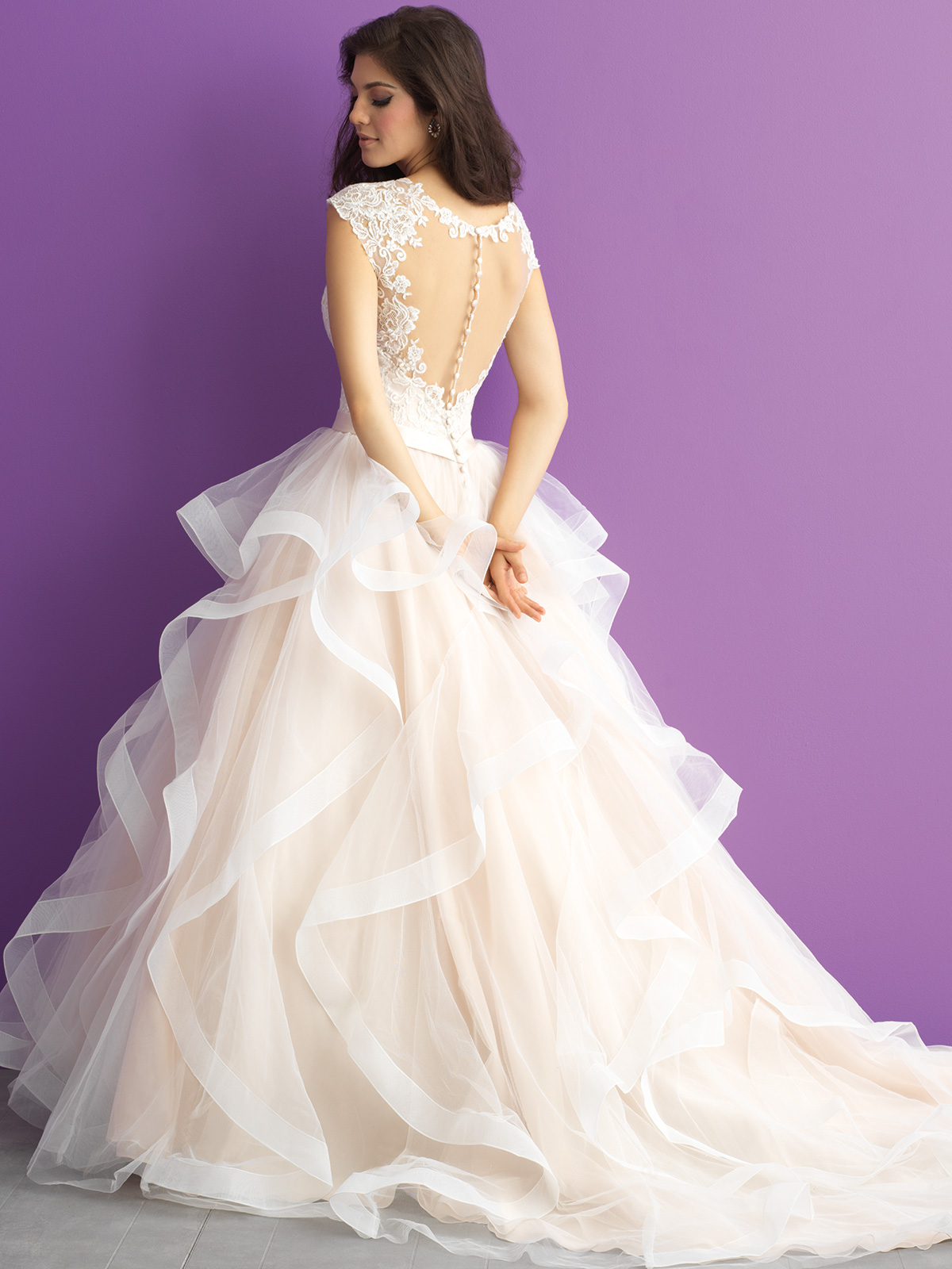 Allure Romance 3017 Organza Ball Gown Wedding Dress|DimitraDesigns.com