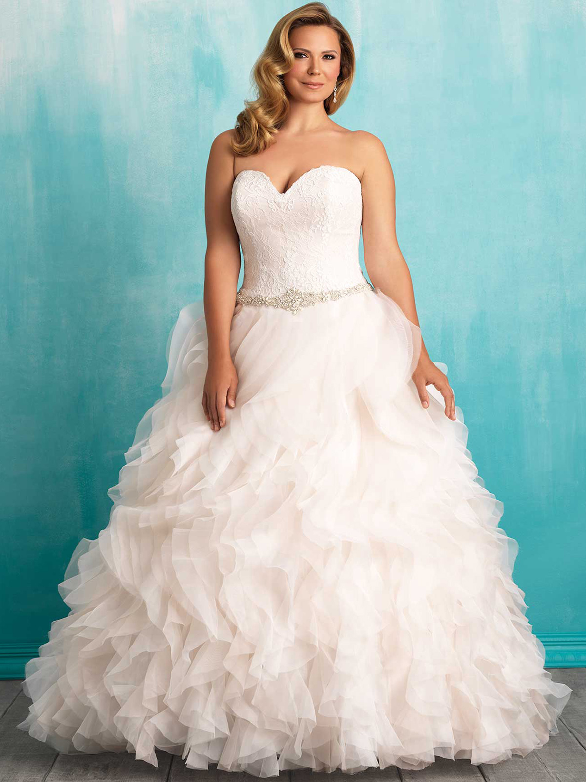 Allure Women W374 Sweetheart Ball Gown Wedding Dress|DimitraDesigns.com
