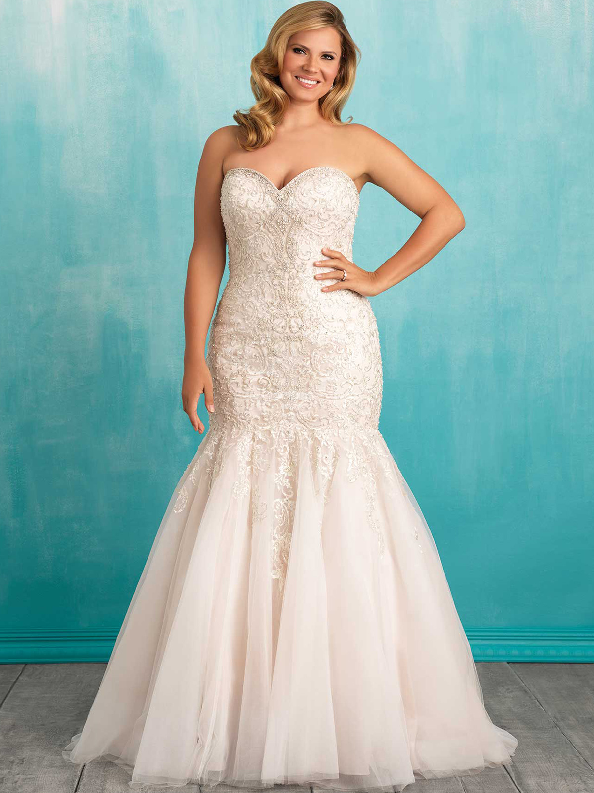 Allure Women W375 Sweetheart Mermaid Wedding Dress|DimitraDesigns.com