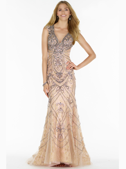 Alyce Paris 6714 V-neck Prom Gown