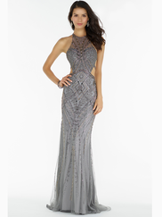 Alyce Paris 6715 Halter Beaded Prom Gown