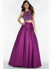 Alyce Paris 6739 Halter Two Piece Prom Gown
