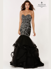 Alyce Paris 6746 Sweetheart Beaded Prom Gown