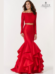 Alyce Paris 6754 Long Sleeved Two Piece Prom Gown