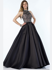 Alyce Paris 6782 Halter Lace Prom Gown