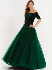 Alyce Paris 6793 Off The Shoulder Prom Gown
