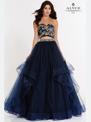Alyce Paris 6804 Two Piece Prom Gown