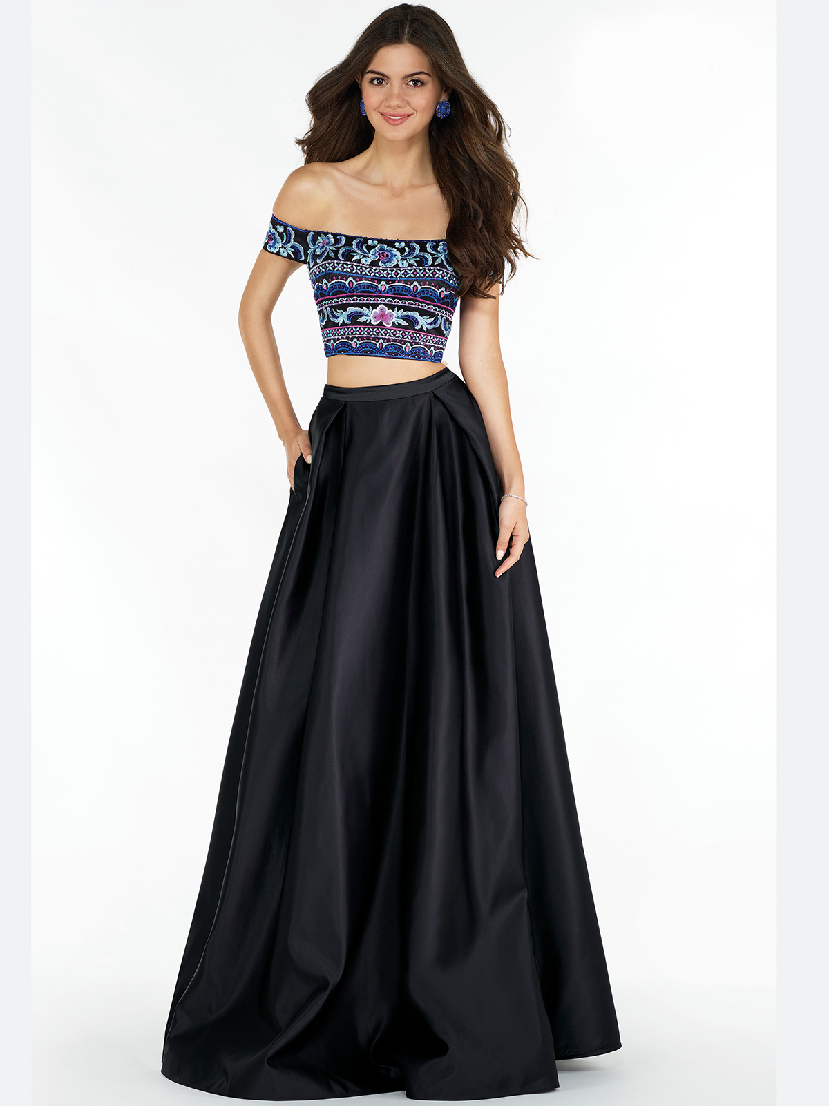 Alyce Paris 6817 Off The Shoulder Two Piece Prom Dress ...
