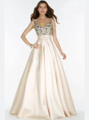 Alyce Paris 6834 Illusion V-neck Prom Gown
