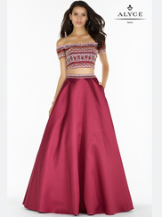 Alyce Paris 6837 Two Piece Prom Gown