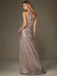 Angelina Faccenda 20475 High Neck Sequin Bridesmaid Dress