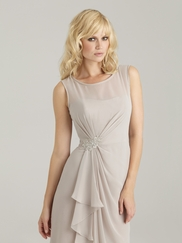Bateau Neckline Allure Bridesmaid Dress 1317