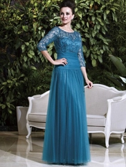 Bateau Neckline Beaded Lace Mother Of The Bride Dress Jade Couture K168008