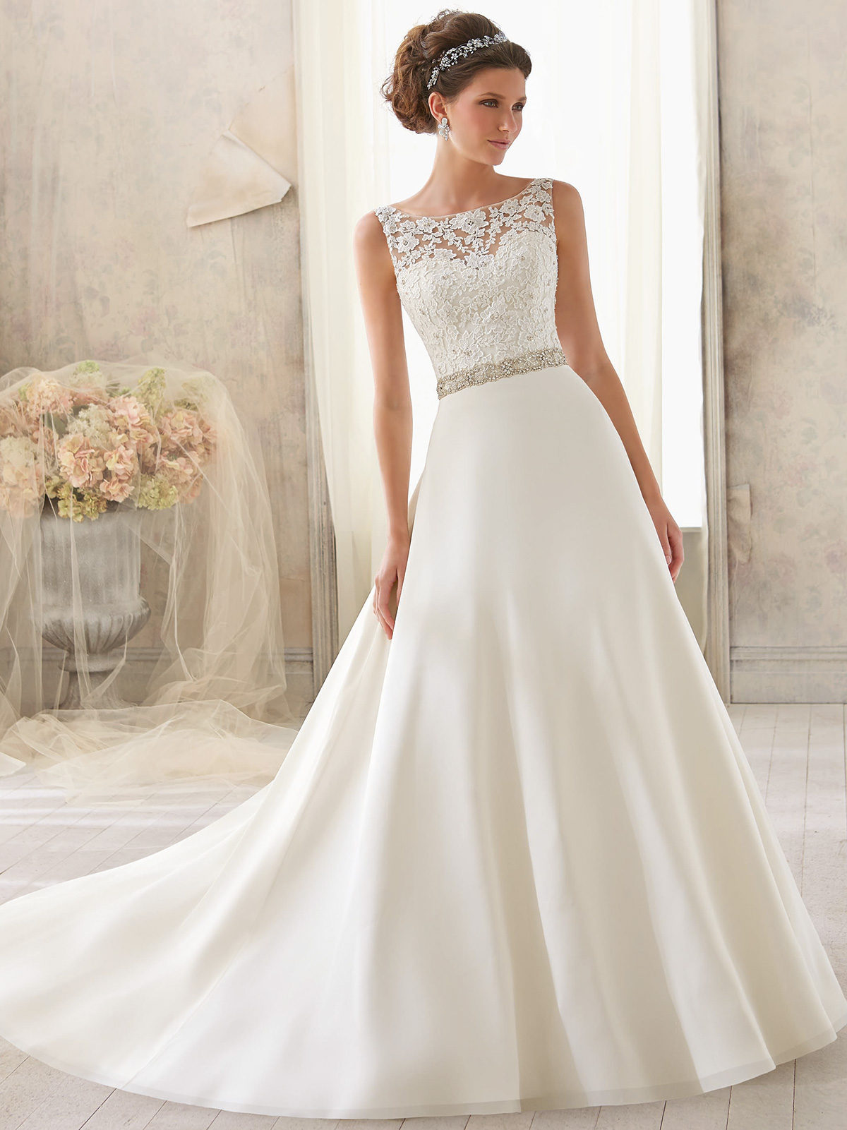 Mori lee blu bridal dress 5204 for Mori lee wedding dresses