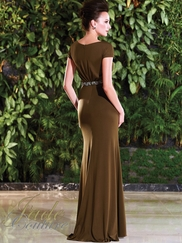 Bateau Neckline With Short Sleeves Mother Of The Bride Dress Jade Couture K168021