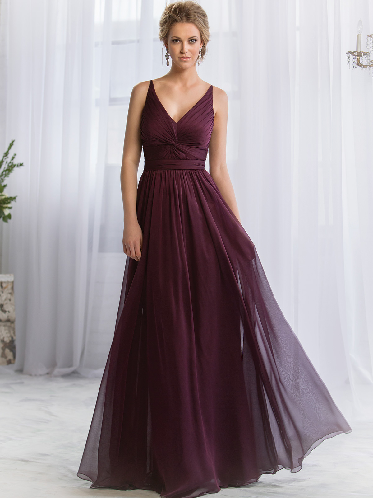 Belsoie bridesmaid dress l164052 dimitradesigns v neck pleated belsoie bridesmaids dress by jasmine l164052 ombrellifo Choice Image