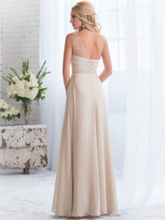 One Shoulder Beaded Belsoie Bridesmaids Dress by Jasmine L164056