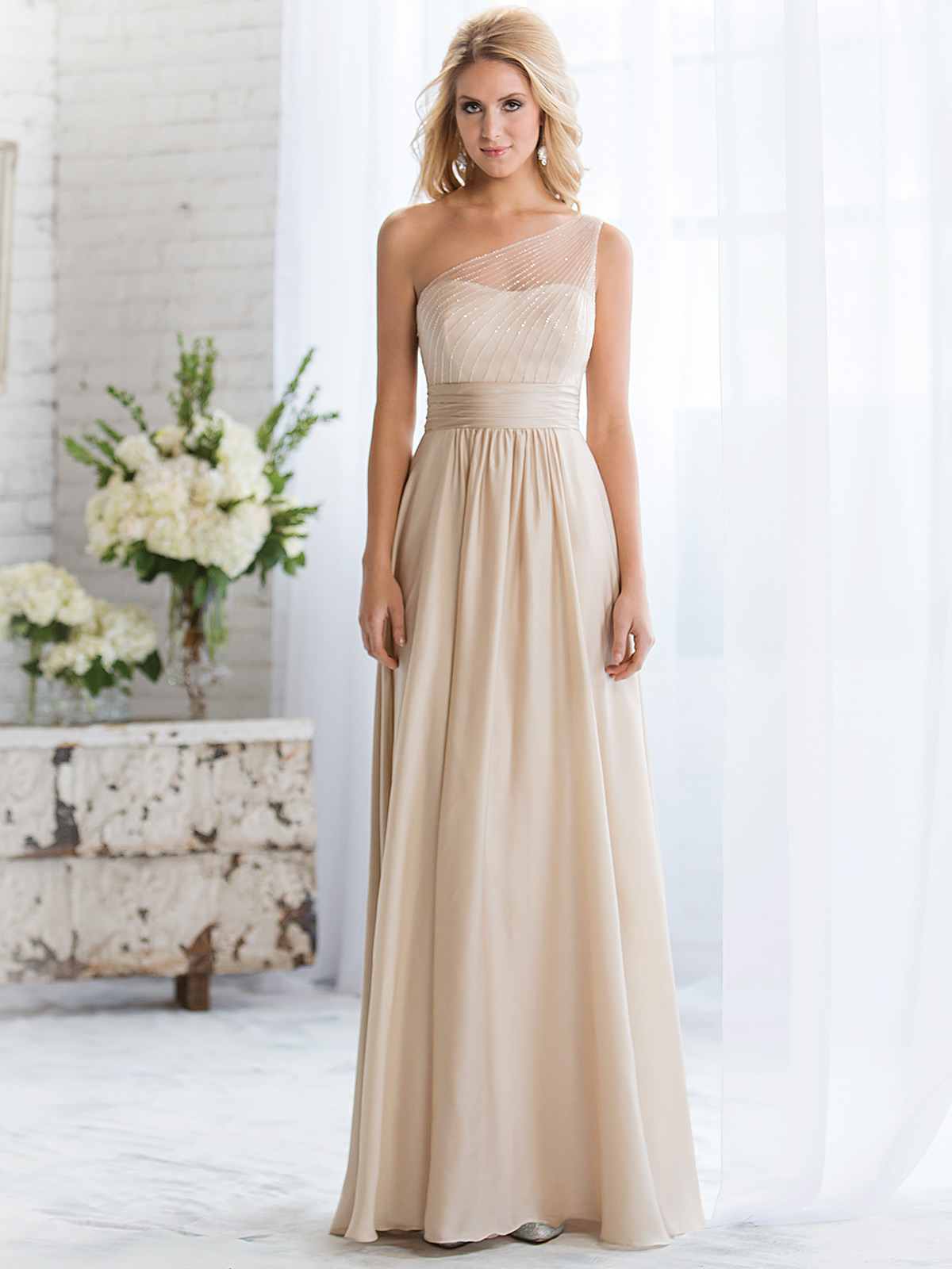 Belsoie bridesmaid dress l164056 dimitradesigns one shoulder beaded belsoie bridesmaids dress by jasmine l164056 ombrellifo Choice Image