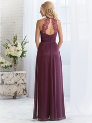 Halter Pleated Belsoie Bridesmaids Dress by Jasmine L164060
