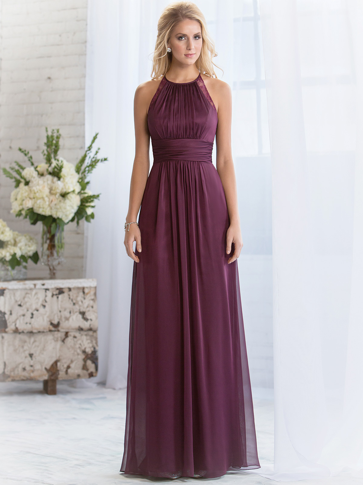 Belsoie bridesmaid dress l164060 dimitradesigns halter pleated belsoie bridesmaids dress by jasmine l164060 ombrellifo Image collections
