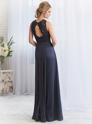V-neck Lace Belsoie Bridesmaids Dress by Jasmine L164065