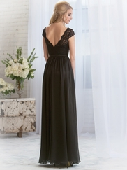 Cap Sleeves Lace Belsoie Bridesmaids Dress by Jasmine L164068