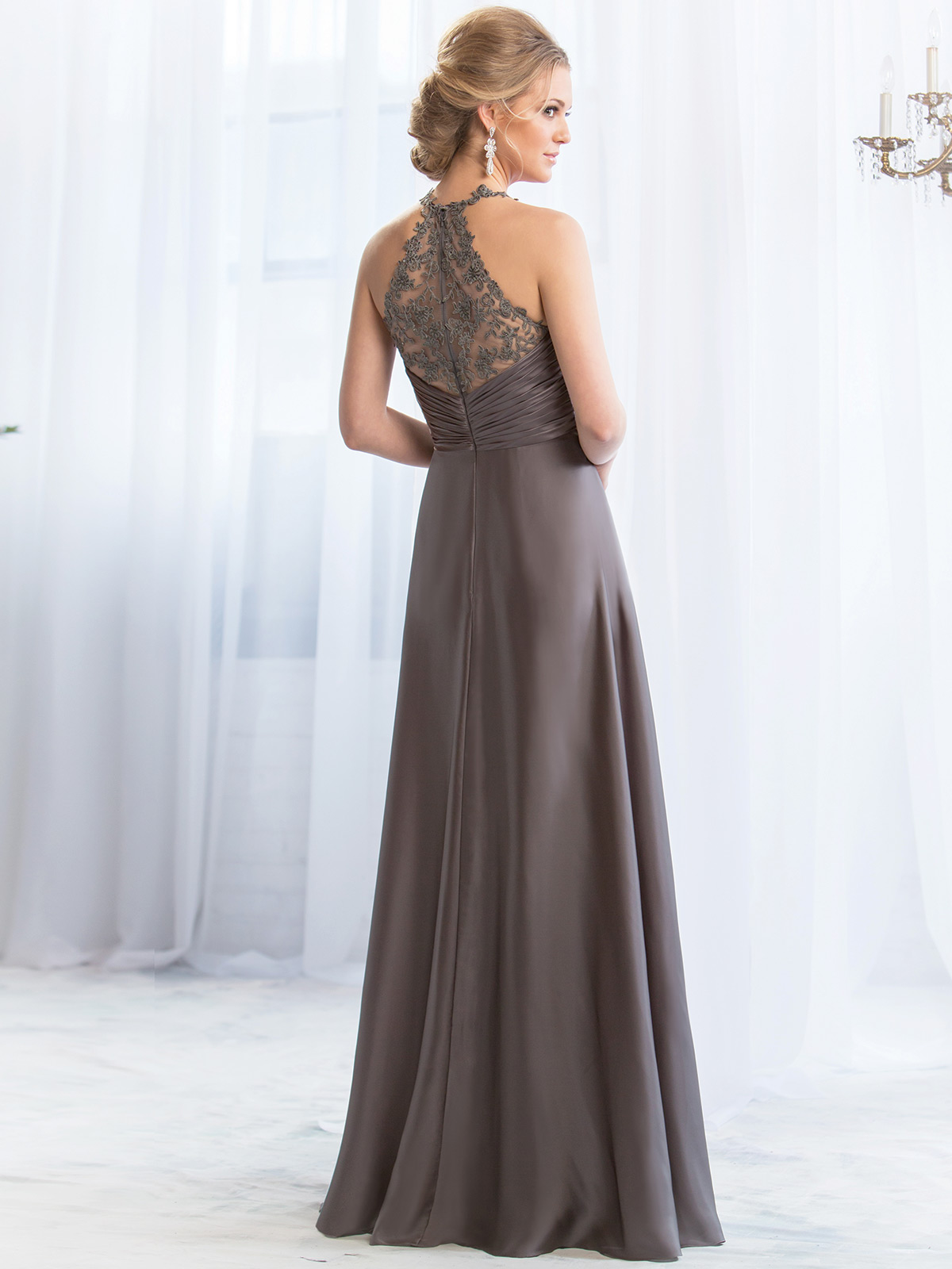 Belsoie bridesmaid dress l164069 dimitradesigns fabulous satin chiffon floor length bridesmaid dress belsoie l164069 ombrellifo Choice Image