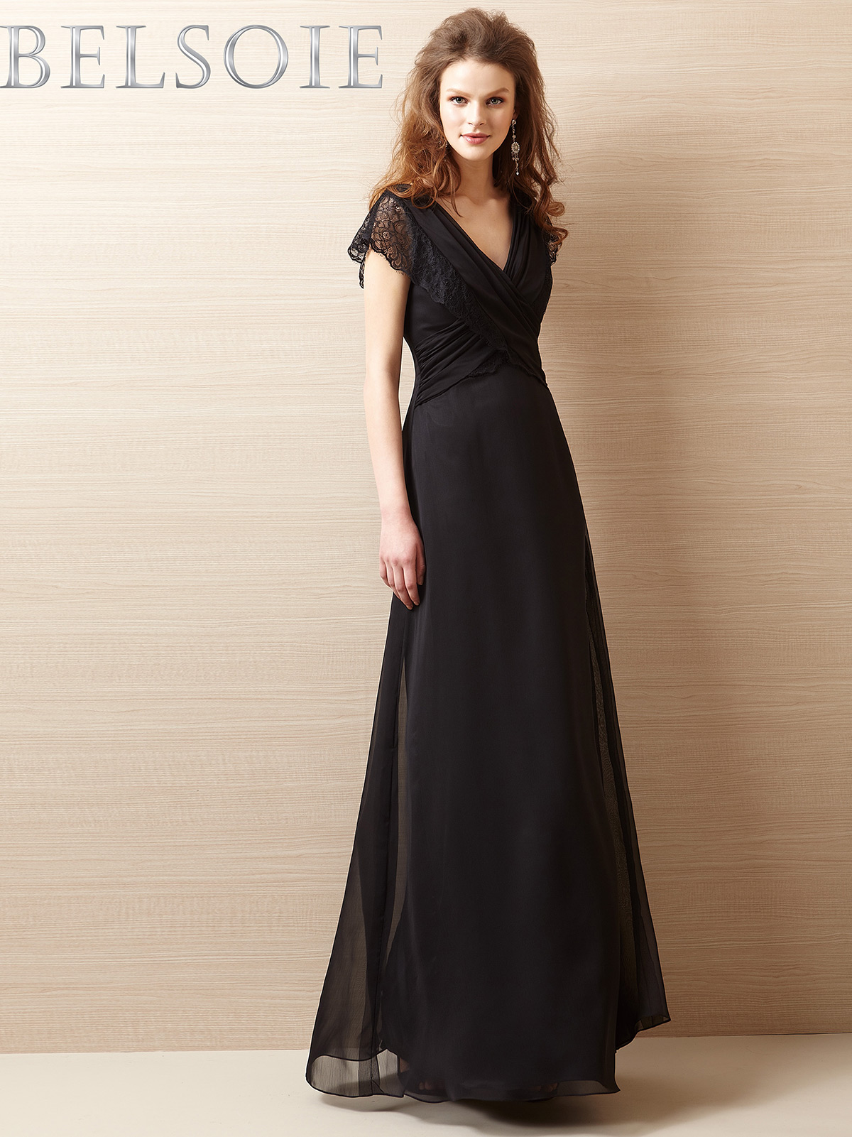 Cap sleeves bridesmaid dress belsoie l144057 belsoie by jasmine bridesmaids l144057 ombrellifo Image collections